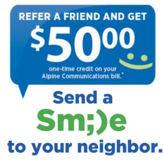 Refer a friend and get $50 - send a smile to your neighbor.