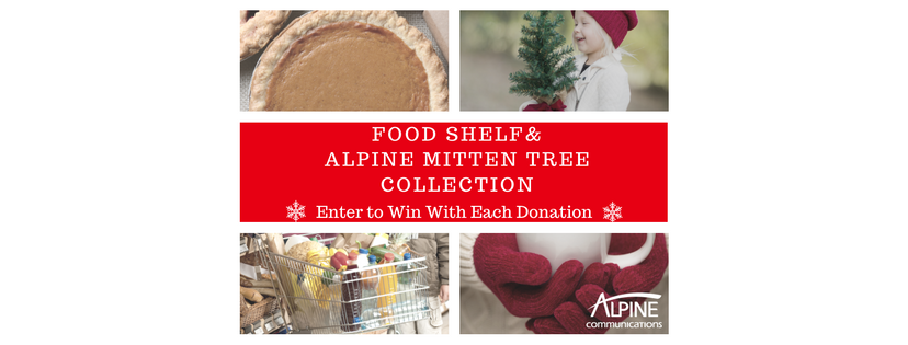 Make a Donation to the Food Shelf & Mitten Tree