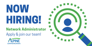 Now Hiring Network Admin