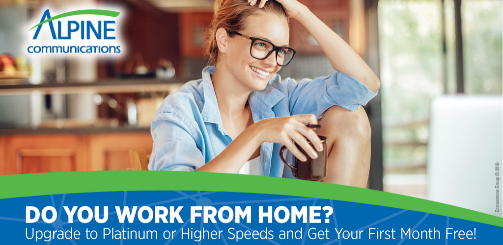 Work From home - upgrade your broadband plan